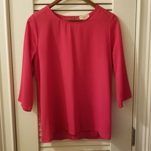 EVERLY Exposed Back Pink Top NWOT